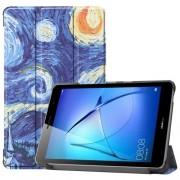 Δερμάτινη Θήκη Βιβλίο Tri-Fold με Βάση Στήριξης για Huawei MatePad T8 - Έναστρη Νύχτα