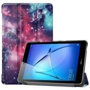 Δερμάτινη Θήκη Βιβλίο Tri-Fold με Βάση Στήριξης για Huawei MatePad T8 - Γαλαξίες
