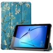 Δερμάτινη Θήκη Βιβλίο Tri-Fold με Βάση Στήριξης για Huawei MatePad T8 - Ανθισμένα Κλαδιά