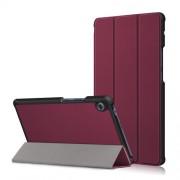 Δερμάτινη Θήκη Βιβλίο Tri-Fold με Βάση Στήριξης για Huawei MatePad T8 - Κόκκινο του Κρασιού