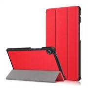Δερμάτινη Θήκη Βιβλίο Tri-Fold με Βάση Στήριξης για Huawei MatePad T8 - Κόκκινο