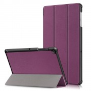 PU Leather Smart Case with Tri-fold Stand for Samsung Galaxy Tab S5e SM-T720/SM-T725 - Purple