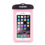 HAWEEL HWL-7002 Αδιάβροχη Θή Πουγκί για Smartphones με Διαστάσεις 21 x 11.5 x 1.2cm - Ροζ