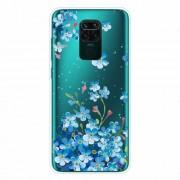 Θήκη Σιλικόνης TPU για Xiaomi Redmi Note 9 / Redmi 10X 4G - Μπλε Άνθη