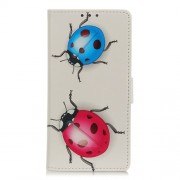 Pattern Printing PU Leather Wallet Stand Phone Shell for Xiaomi Redmi Note 9 / Redmi 10X 4G - Coccinella Septempunctata