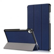 Litch Skin PU Leather Tri-fold Stand Tablet Case for Lenovo Tab M8 TB-8505 - Blue