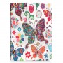 Pattern Printing Tri-fold Leather Stand Cover for Lenovo Tab E10 - Colorized Butterfly