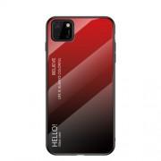Θήκη Σιλικόνης με Σκληρή Πλάτη (Χρώμα Gradient) για Huawei Y5p / Honor 9S - Κόκκινο/Μαύρο