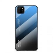 Θήκη Σιλικόνης με Σκληρή Πλάτη (Χρώμα Gradient) για Huawei Y5p / Honor 9S - Μπλε/Μαύρο