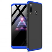 GKK 360 μοιρών Σκληρή Θήκη Ματ με Βελούδινη Υφή Πρόσοψης και Πλάτης για Huawei P30 Lite / nova 4e - Μαύρο/Μπλε