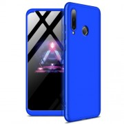 GKK 360 μοιρών Σκληρή Θήκη Ματ με Βελούδινη Υφή Πρόσοψης και Πλάτης για Huawei P30 Lite / nova 4e - Μπλε