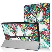 Pattern Printing Tri-fold Smart Leather Stand Case for iPad 9.7 (2018) / 9.7 (2017) - Colored Tree