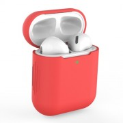 Silicone AirPods Protective Box for Apple AirPods with Charging Case (2019)/with Wireless Charging Case (2019)/with Charging Case (2016) - Red