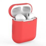 Θήκη Σιλικόνης για Apple AirPods with Charging Case (2019)/with Wireless Charging Case (2019)/with Charging Case (2016) - Κόκκινο
