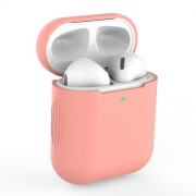 Θήκη Σιλικόνης για Apple AirPods with Charging Case (2019)/with Wireless Charging Case (2019)/with Charging Case (2016) - Σκούρο Ροζ