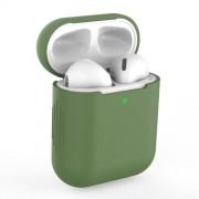 Θήκη Σιλικόνης για Apple AirPods with Charging Case (2019)/with Wireless Charging Case (2019)/with Charging Case (2016) - Σκούρο Πράσινο