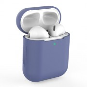 Silicone AirPods Protective Box for Apple AirPods with Charging Case (2019)/with Wireless Charging Case (2019)/with Charging Case (2016) - Baby Blue