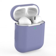 Silicone AirPods Protective Box for Apple AirPods with Charging Case (2019)/with Wireless Charging Case (2019)/with Charging Case (2016) - Light Purple