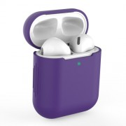 Θήκη Σιλικόνης για Apple AirPods with Charging Case (2019)/with Wireless Charging Case (2019)/with Charging Case (2016) - Σκούρο Μωβ