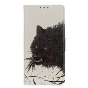 Pattern Printing Magnetic Leather Stand Cover for Xiaomi Redmi Note 9 Pro/Note 9 Pro Max/Note 9S - Bloody Wolf