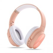 Foldable Bluetooth Earphone Wireless Headset 800mAh Large Capacity Battery Bass Sound - Rose Gold