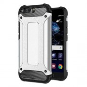 Armor Guard Plastic + TPU Hybrid Phone Case for Huawei P10 - Silver