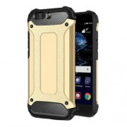 Armor Guard Plastic + TPU Hybrid Case Cover for Huawei P10 - Gold