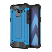Armor Guard Plastic + TPU Hybrid Cell Phone Cover for Samsung Galaxy A8 (2018) - Baby Blue