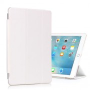 For iPad Pro 9.7 Tri-fold Stand Smart Leather Cover + Companion Hard Case - White