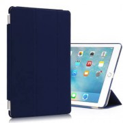 Tri-fold Stand Wake Sleep Smart Leather Tablet Case for iPad Pro 9.7 inch - Dark Blue