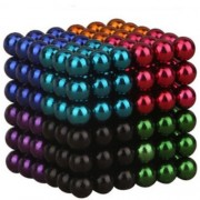 216 Pcs Colorful Magnetic Ball Building Block Creative Magnet Toy Puzzle 5mm Office Decoration Balls (8 Colors Random)