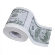 Χαρτί Τουαλέτας με Τυπωμένο το Αμερικανικό Χαρτονόμισμα Εκατό Δολλαρίων