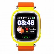 GPS Q90 1.22-inch Touch Screen Παιδικό Ρολόι WIFI Positioning Children Smart Watch Phone Support GPS, SOS Call, Pedometer - Κίτρινο