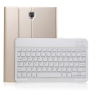 Detachable Bluetooth Keyboard PU Leather Stand Case Shell for Samsung Galaxy Tab A 10.5 (2018) T590 T595 - Gold