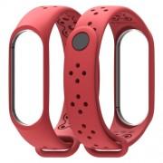 MIJOBS Μπρασελέ Σιλικόνης για Xiaomi Mi Band 4 / Mi Band 3 - Κόκκινο