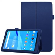 For Lenovo Tab M8/Tab M8 (2nd Gen) Litchi Texture Leather Case Tablet Cover - Dark Blue