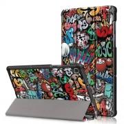 Δερμάτινη Θήκη Βιβλίο Tri-Fold με Βάση Στήριξης για Lenovo Tab M10 FHD Plus X606F 10.3 ίντσες - Γκράφιτι