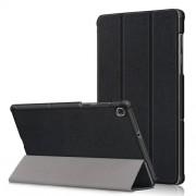 Δερμάτινη Θήκη Βιβλίο Tri-Fold με Βάση Στήριξης για Lenovo Tab M10 FHD Plus X606F 10.3 ίντσες - Μαύρο