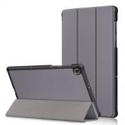 Δερμάτινη Θήκη Βιβλίο Tri-Fold με Βάση Στήριξης για Lenovo Tab M10 FHD Plus X606F 10.3 ίντσες - Γκρι