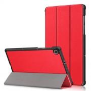 Δερμάτινη Θήκη Βιβλίο Tri-Fold με Βάση Στήριξης για Lenovo Tab M10 FHD Plus X606F 10.3 ίντσες - Κόκκινο