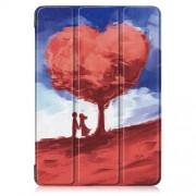 Δερμάτινη Θήκη Βιβλίο Tri-Fold με Βάση Στήριξης για Lenovo Tab E10 - Δέντρο σε Σχήμα Καρδιάς