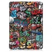 Δερμάτινη Θήκη Βιβλίο Tri-Fold με Βάση Στήριξης για Lenovo Tab E10 - Γκράφιτι