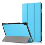 Δερμάτινη Θήκη Βιβλίο Tri-Fold με Βάση Στήριξης για Lenovo Tab P10 TB-X705F - Γαλάζιο
