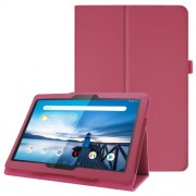 For Lenovo Tab P10 10.1-inch Litchi Texture Leather Stand Protection Case - Rose