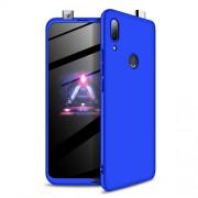 GKK 360 μοιρών Σκληρή Θήκη Ματ με Βελούδινη Υφή Πρόσοψης και Πλάτης για Huawei P Smart Z / Y9 Prime 2019 / Honor 9X Global - Μπλε
