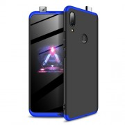 GKK 360 μοιρών Σκληρή Θήκη Ματ με Βελούδινη Υφή Πρόσοψης και Πλάτης για Huawei P Smart Z / Y9 Prime 2019 / Honor 9X Global - Μαύρο / Μπλε