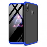 GKK 360 μοιρών Σκληρή Θήκη Ματ με Βελούδινη Υφή Πρόσοψης και Πλάτης για Huawei P Smart (2019) / Honor 10 Lite - Μαύρο / Μπλε