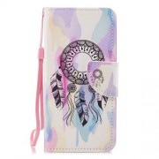 Cross Texture Pattern Printing Wallet Stand Leather Mobile Phone Shell for Huawei P20 Lite/Nova 3e - Dream Catcher