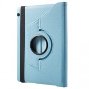 Rotary Stand Litchi Texture PU Leather Protector Case for Huawei MediaPad T3 10 9.6 inch - Baby Blue