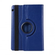 Rotary Stand Litchi Texture PU Leather Protector Cover for Huawei MediaPad T3 10 9.6 inch - Dark Blue